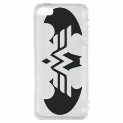 Чохол для iphone 5/5S/SE Wonder woman and batman logo