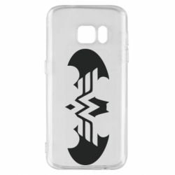 Чохол для Samsung S7 Wonder woman and batman logo
