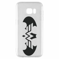 Чохол для Samsung S7 EDGE Wonder woman and batman logo