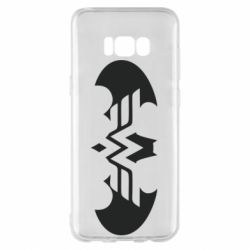 Чохол для Samsung S8+ Wonder woman and batman logo