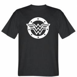 Мужская футболка Wonder woman logo and stars