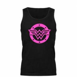 Мужская майка Wonder woman logo and stars