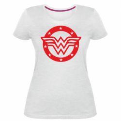 Жіноча стрейчева футболка Wonder woman logo and stars
