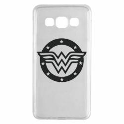 Чехол для Samsung A3 2015 Wonder woman logo and stars