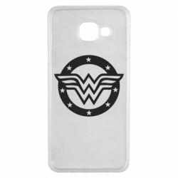 Чехол для Samsung A3 2016 Wonder woman logo and stars