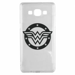Чехол для Samsung A5 2015 Wonder woman logo and stars