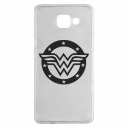 Чехол для Samsung A5 2016 Wonder woman logo and stars