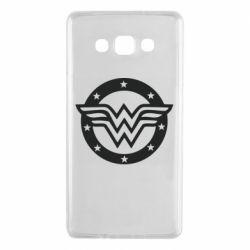 Чехол для Samsung A7 2015 Wonder woman logo and stars