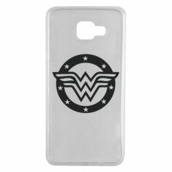 Чехол для Samsung A7 2016 Wonder woman logo and stars