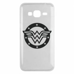 Чехол для Samsung J3 2016 Wonder woman logo and stars