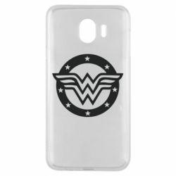 Чехол для Samsung J4 Wonder woman logo and stars