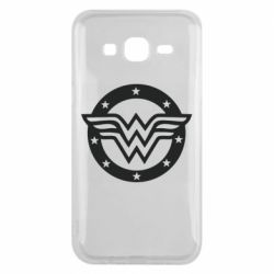Чехол для Samsung J5 2015 Wonder woman logo and stars