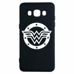 Чехол для Samsung J5 2016 Wonder woman logo and stars