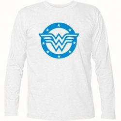 Футболка с длинным рукавом Wonder woman logo and stars