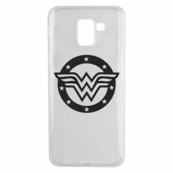Чехол для Samsung J6 Wonder woman logo and stars