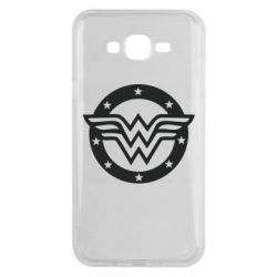 Чехол для Samsung J7 2015 Wonder woman logo and stars