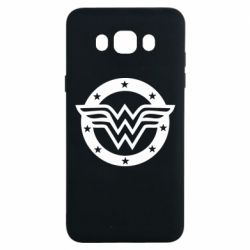 Чехол для Samsung J7 2016 Wonder woman logo and stars