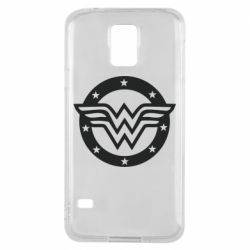 Чехол для Samsung S5 Wonder woman logo and stars