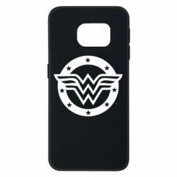 Чохол для Samsung S6 EDGE Wonder woman logo and stars