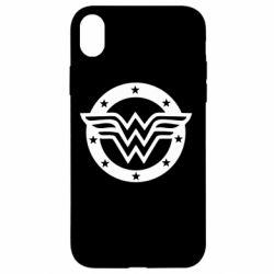 Чехол для iPhone XR Wonder woman logo and stars