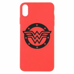 Чехол для iPhone Xs Max Wonder woman logo and stars