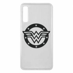 Чехол для Samsung A7 2018 Wonder woman logo and stars