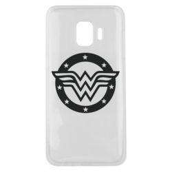 Чехол для Samsung J2 Core Wonder woman logo and stars