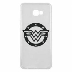 Чехол для Samsung J4 Plus 2018 Wonder woman logo and stars