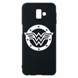 Чехол для Samsung J6 Plus 2018 Wonder woman logo and stars