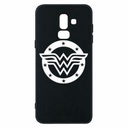 Чохол для Samsung J8 2018 Wonder woman logo and stars