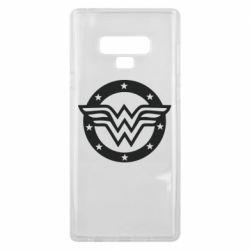 Чехол для Samsung Note 9 Wonder woman logo and stars
