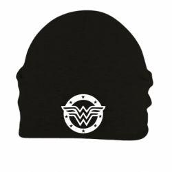 Шапка на флисе Wonder woman logo and stars