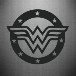 Наклейка Wonder woman logo and stars