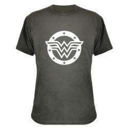 Камуфляжная футболка Wonder woman logo and stars