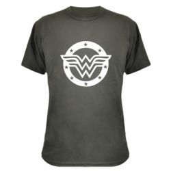 Камуфляжна футболка Wonder woman logo and stars