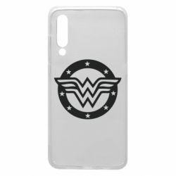 Чехол для Xiaomi Mi9 Wonder woman logo and stars