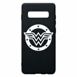 Чехол для Samsung S10+ Wonder woman logo and stars