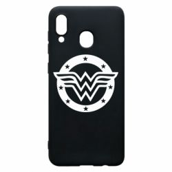 Чехол для Samsung A20 Wonder woman logo and stars