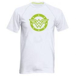 Мужская спортивная футболка Wonder woman logo and stars