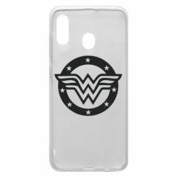 Чехол для Samsung A30 Wonder woman logo and stars