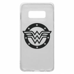 Чехол для Samsung S10e Wonder woman logo and stars