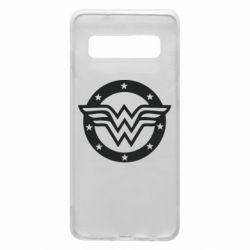 Чехол для Samsung S10 Wonder woman logo and stars