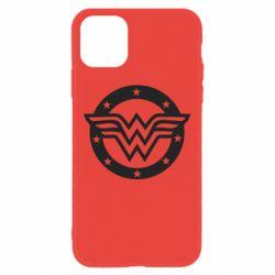 Чехол для iPhone 11 Wonder woman logo and stars