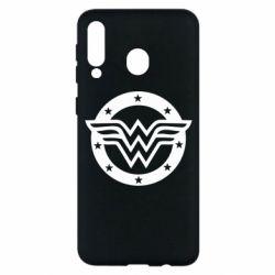 Чехол для Samsung M30 Wonder woman logo and stars