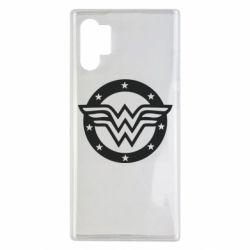 Чехол для Samsung Note 10 Plus Wonder woman logo and stars