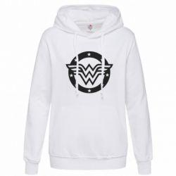 Женская толстовка Wonder woman logo and stars