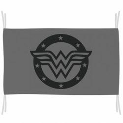 Прапор Wonder woman logo and stars