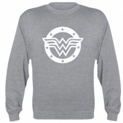 Реглан (свитшот) Wonder woman logo and stars