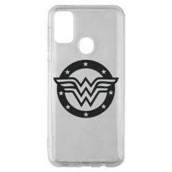 Чохол для Samsung M30s Wonder woman logo and stars