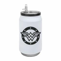 Термобанка 350ml Wonder woman logo and stars